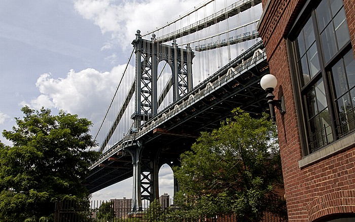 Dumbo (Down Under the Manhattan Bridge Overpass): Washington Street, Manhattan Bridge New York City
