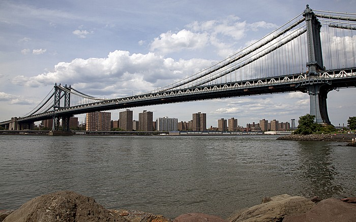 New York City Manhattan Bridge Brooklyn Brooklyn Bridge East River Empire-Fulton Ferry State Park Lower East Side