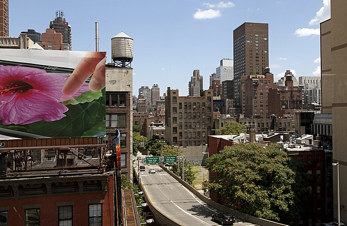 New York City Blick aus der Roosevelt Island Tramway: Lenox Hill (Upper East Side)