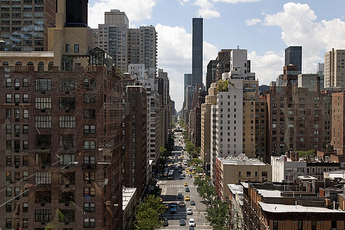 Blick aus der Roosevelt Island Tramway: Sutton Place (Midtown Manhattan) - 1st Avenue New York City