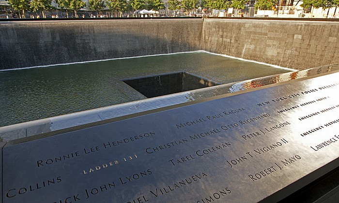 World Trade Center Site (Ground Zero): 9/11 Memorial - South Pool New York City