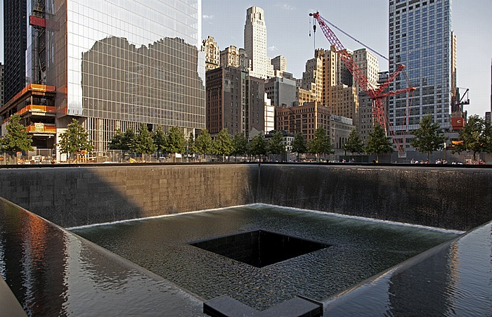 New York World Trade Center Site (Ground Zero): 9/11 Memorial - South Pool Four World Trade Center W New York Downtown