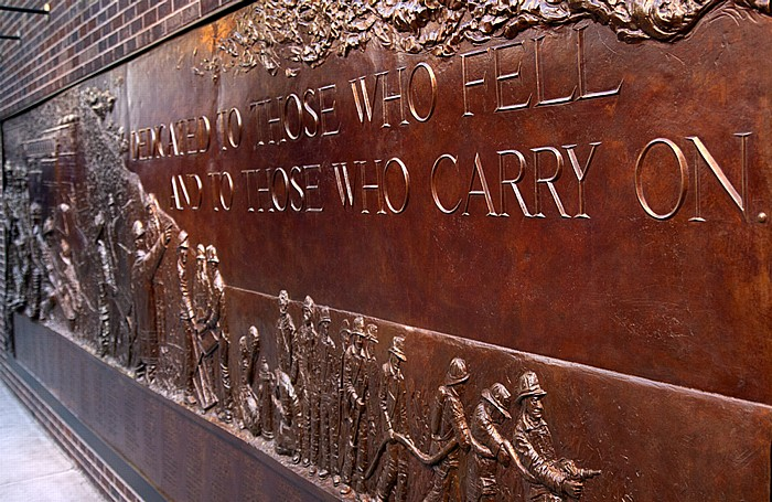 New York FDNY Ten House (124 Liberty Street): FDNY Memorial Wall