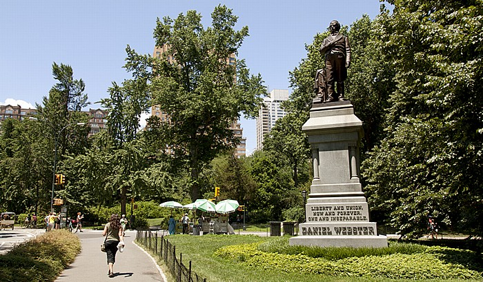 Central Park: Daniel-Webster-Bronzestandbild (von Thomas Ball) New York City