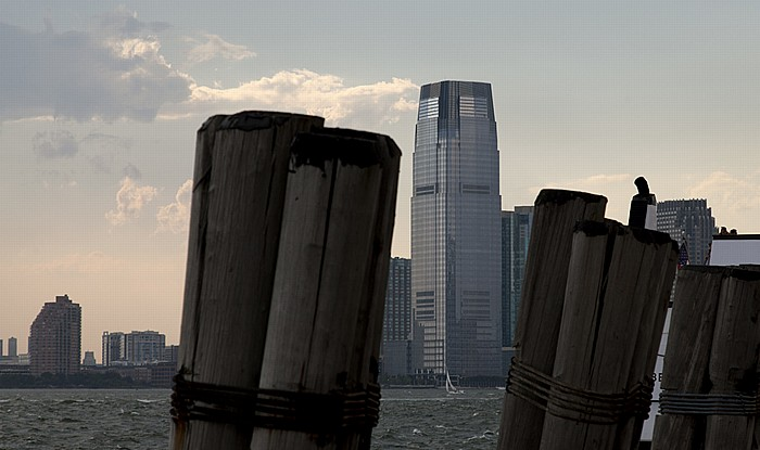 New York Blick vom Battery Park Goldman Sachs Tower Hudson River