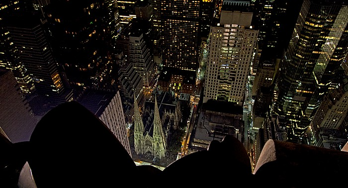 Blick vom GE Building (Rockefeller Center) Top Of The Rock: Manhattan Midtown - St. Patrick's Cathedral New York City
