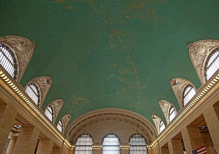 Grand Central Terminal: Sternzeichen an der Decke der Haupthalle New York City
