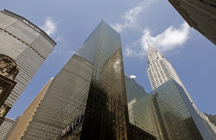 Midtown Manhattan (v.l.): MetLife Building (Pan Am Building), Grand Hyatt New York, Chrysler Building