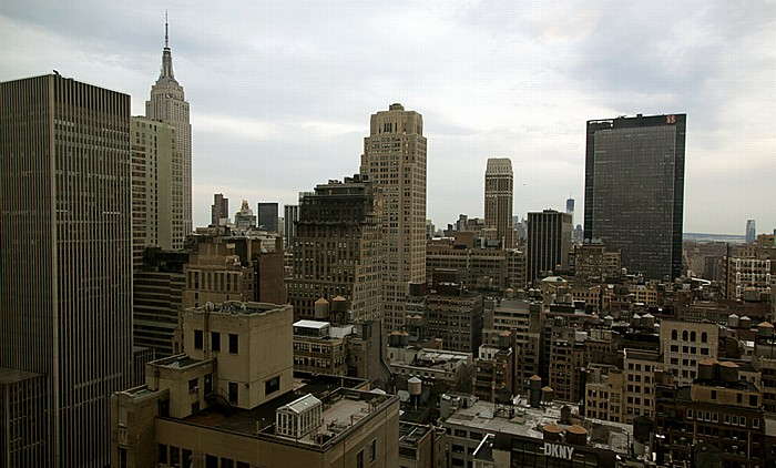 Blick aus dem Hilton Times Square: Manhattan Midtown New York City