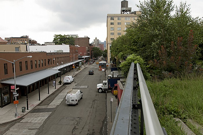 New York City West Village (Greenwich Village): Washington Street und High Line Park