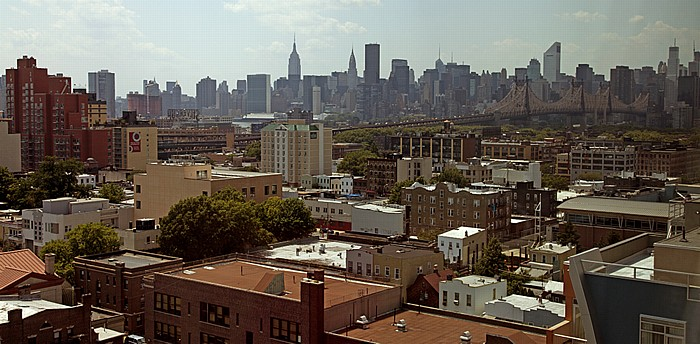 Blick aus dem Holiday Inn Long Island City: Queens und Midtown Manhattan New York City