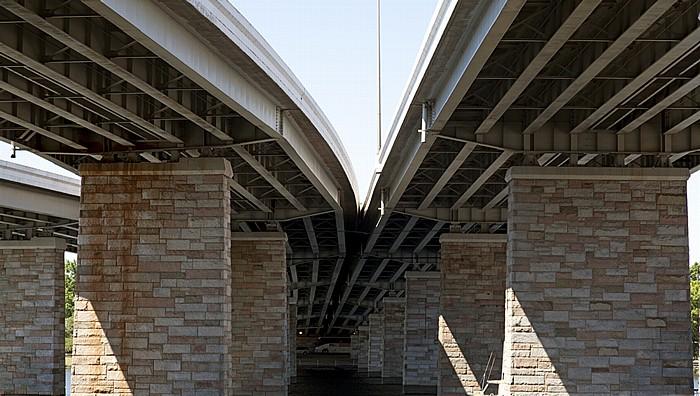 Francis Case Memorial Bridge (14th Street Bridge, Interstate 395) über den Washington Channel Washington, D.C.