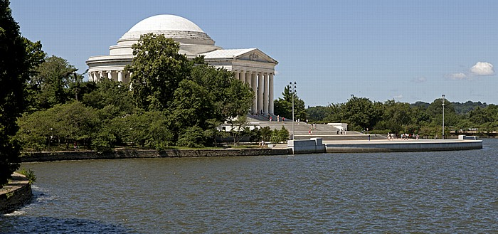 Washington, D.C. West Potomac Park: Tidal Basin und Jefferson Memorial