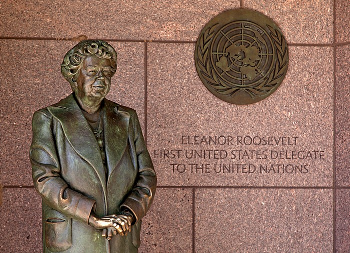 Washington, D.C. West Potomac Park: Franklin Delano Roosevelt Memorial - Eleanor Roosevelt