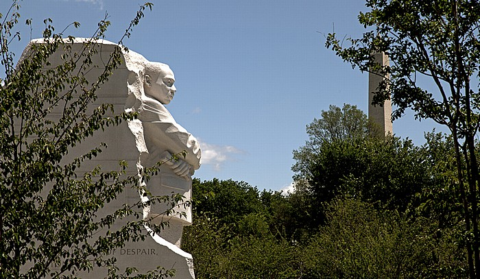 Washington, D.C. West Potomac Park: Martin Luther King, Jr. Memorial Washington Monument