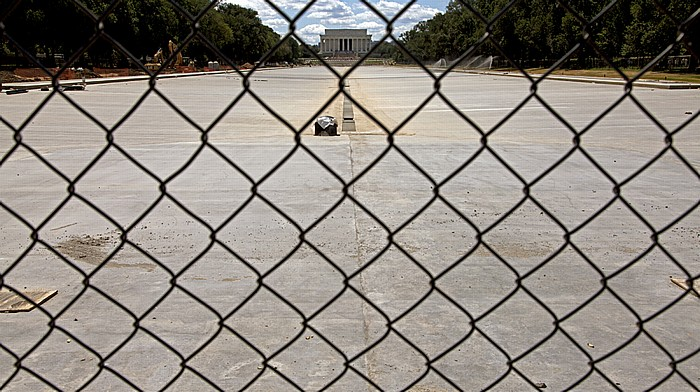 Washington, D.C. National Mall: (Wasserleerer) Lincoln Memorial Reflecting Pool