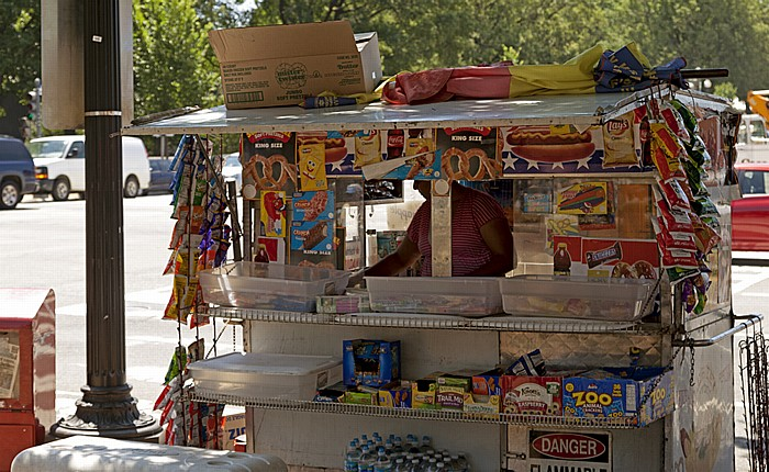 Washington, D.C. Federal Triangle: Constitution Avenue - Straßenverkäufer