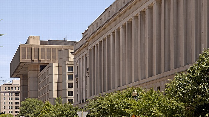 Washington, D.C. Federal Triangle: 10th Street J. Edgar Hoover Building Robert F. Kennedy Department of Justice Building