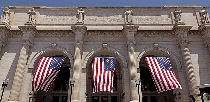Washington Union Station: US-amerikanische Flaggen Washington, D.C.