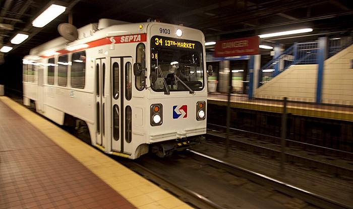 Philadelphia 30th Street (SEPTA station): Subway–Surface Trolley (unterirdische Tram)