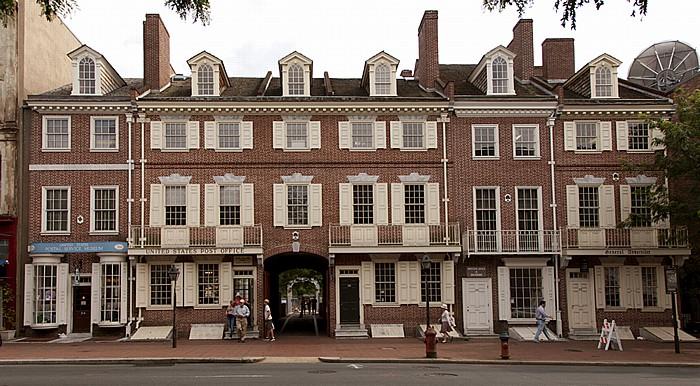 Philadelphia Old City: Market Street - Franklin Court mit United States Postal Service Museum