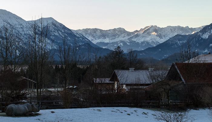 Murnau Blick aus dem Hotel Alpenhof: Bayerische Voralpen