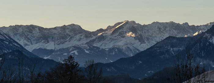 Murnau Blick aus dem Hotel Alpenhof: Wettersteingebirge