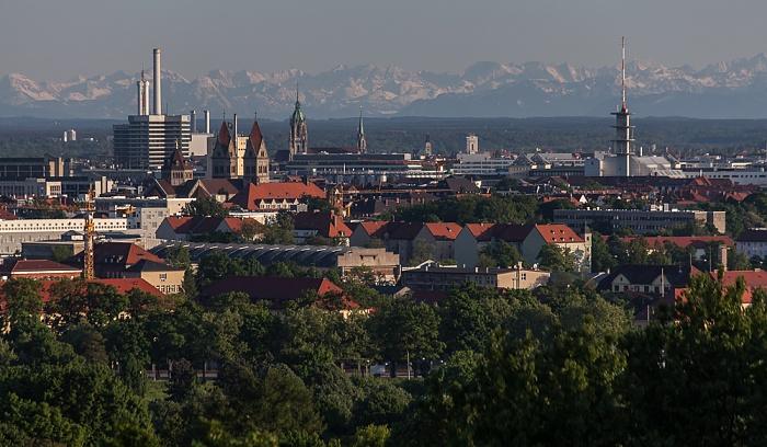 Blick vom Olympiaberg München 2012