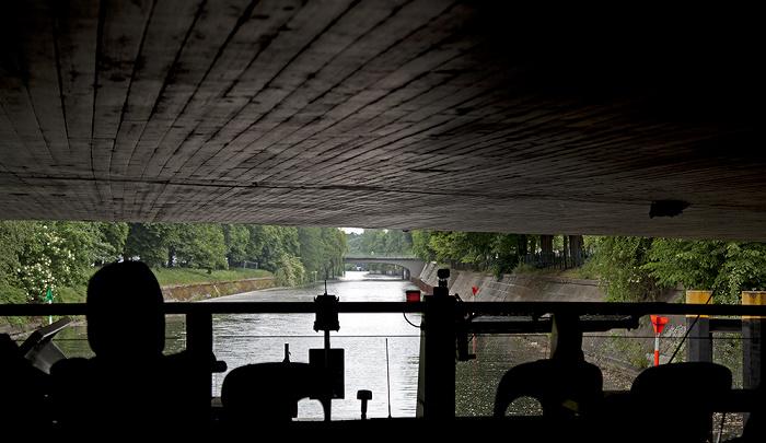 Berlin Tiergarten: Landwehrkanal mit Herkulesbrücke Corneliusbrücke
