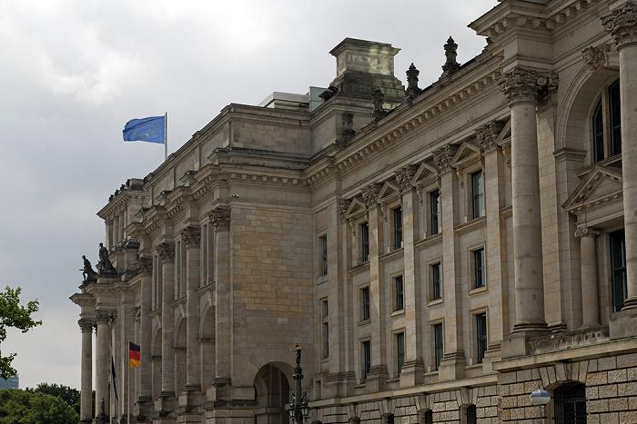 Berlin Tiergarten (Regierungsviertel): Reichstagsgebäude (Gebäuderückseite)
