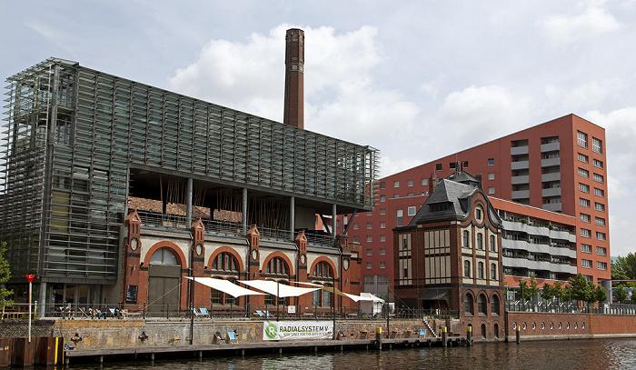 Berlin Friedrichshain: Mediaspree, Spree ibis Berlin Ostbahnhof Kunstzentrum Radialsystem