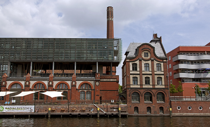 Berlin Friedrichshain: Mediaspree, Spree Kunstzentrum Radialsystem