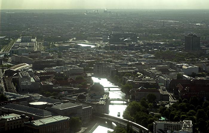 Blick vom Fernsehturm: Mitte Berlin 2012