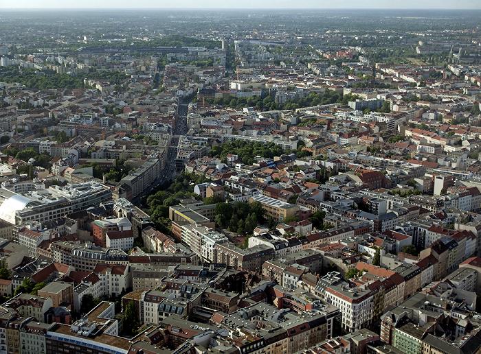 Blick vom Fernsehturm Berlin 2012