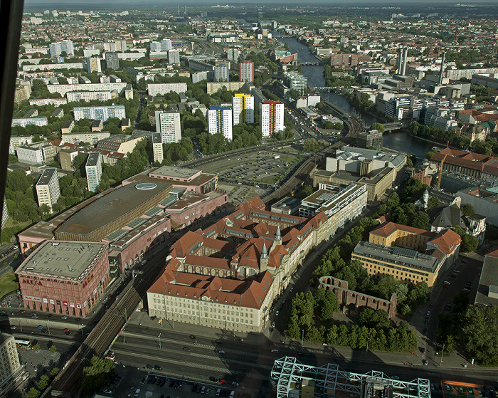 Blick vom Fernsehturm: Mitte Berlin
