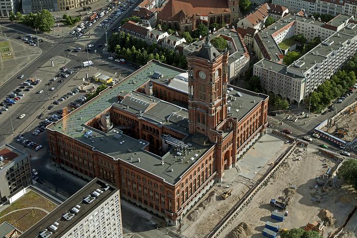Blick vom Fernsehturm: Mitte - Rotes Rathaus Berlin 2012