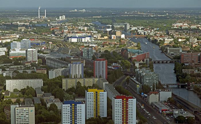 Blick vom Fernsehturm: Friedrichshain / Kreuzberg Berlin 2012