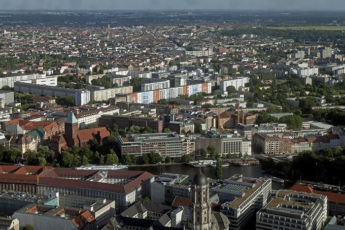 Blick vom Fernsehturm: Mitte / Kreuzberg Berlin