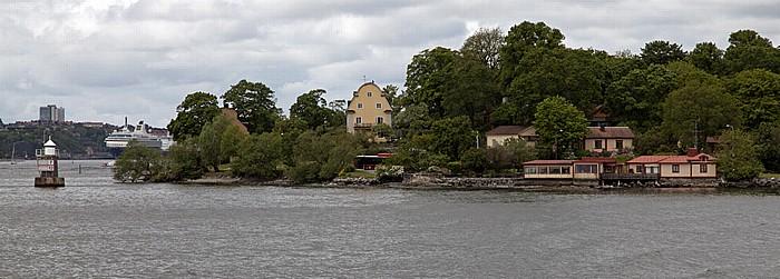 Fähre Stockholm - Vaxholm: Djurgarden - Blockhusudden Cafe Blockhusporten