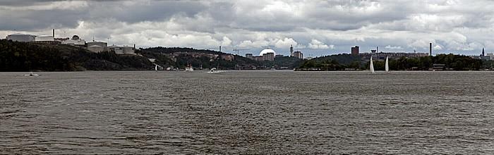 Fähre Stockholm - Vaxholm: Saltsjön Ericsson Globe