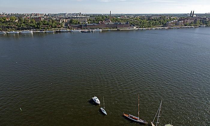 Blick vom Stadshuset (Stadthaus): Södermalm, Riddarfjärden Stockholm 2012