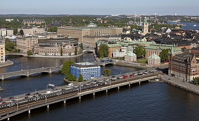 Blick vom Stadshuset (Stadthaus) Stockholm 2012