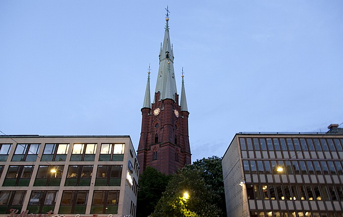 Norrmalm: Klarabergsgatan, Klarakirche (Klara kyrka) Stockholm 2012