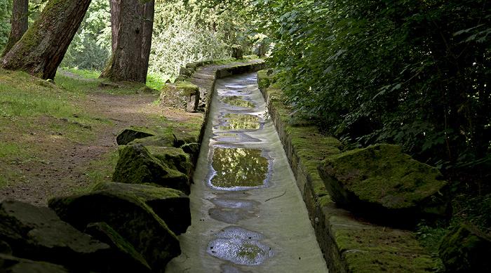 Kassel Bergpark Wilhelmshöhe: Zufluss zum Aquädukt