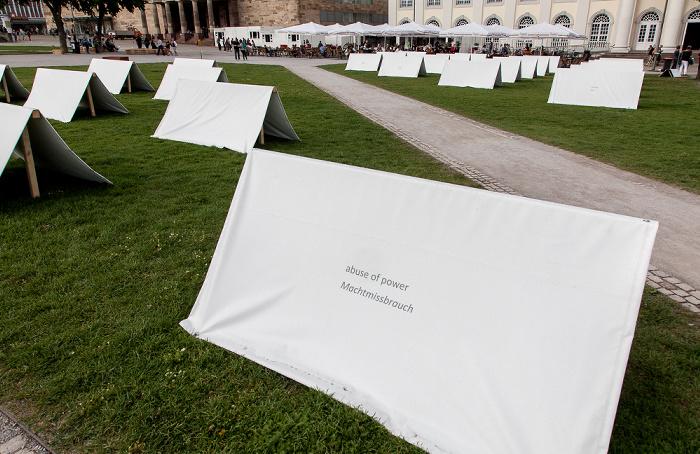 Kassel Friedrichsplatz: Zelte der Occupy-Bewegung