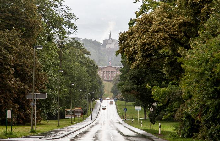 Kassel Wilhelmshöher Allee, Bergpark Wilhelmshöhe mit Schloss Wilhelmshöhe und Herkules