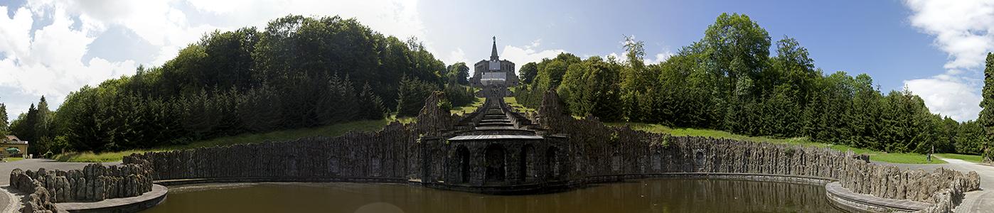 Kassel Bergpark Wilhelmshöhe: Neptunbrunnen, Kaskaden und Herkules