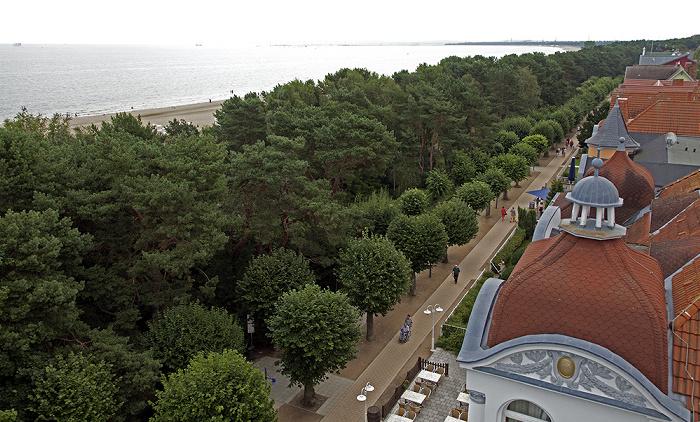 Ahlbeck Blick vom Grand City Strandhotel: Ostsee, Strand