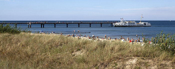 Bansin Strand, Seebrücke, Ostsee
