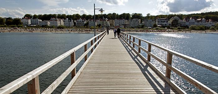 Bansin Seebrücke, Strand